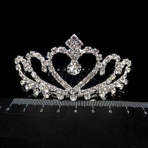 Women-Floral-Bridal-Hair-Accessories-Silver-Rhinestone-Tiara-Wedding-Hair-Combs