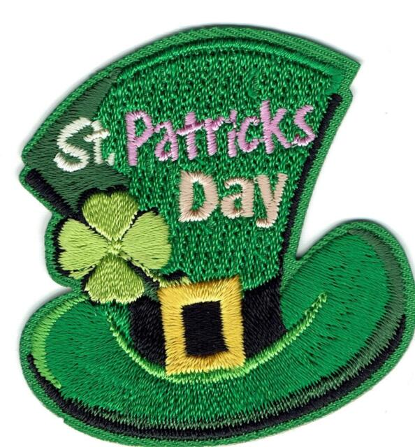 Girl Boy Cub St  Patrick's Day Hat Fun Patches Crests Badges Scouts Guide  Party