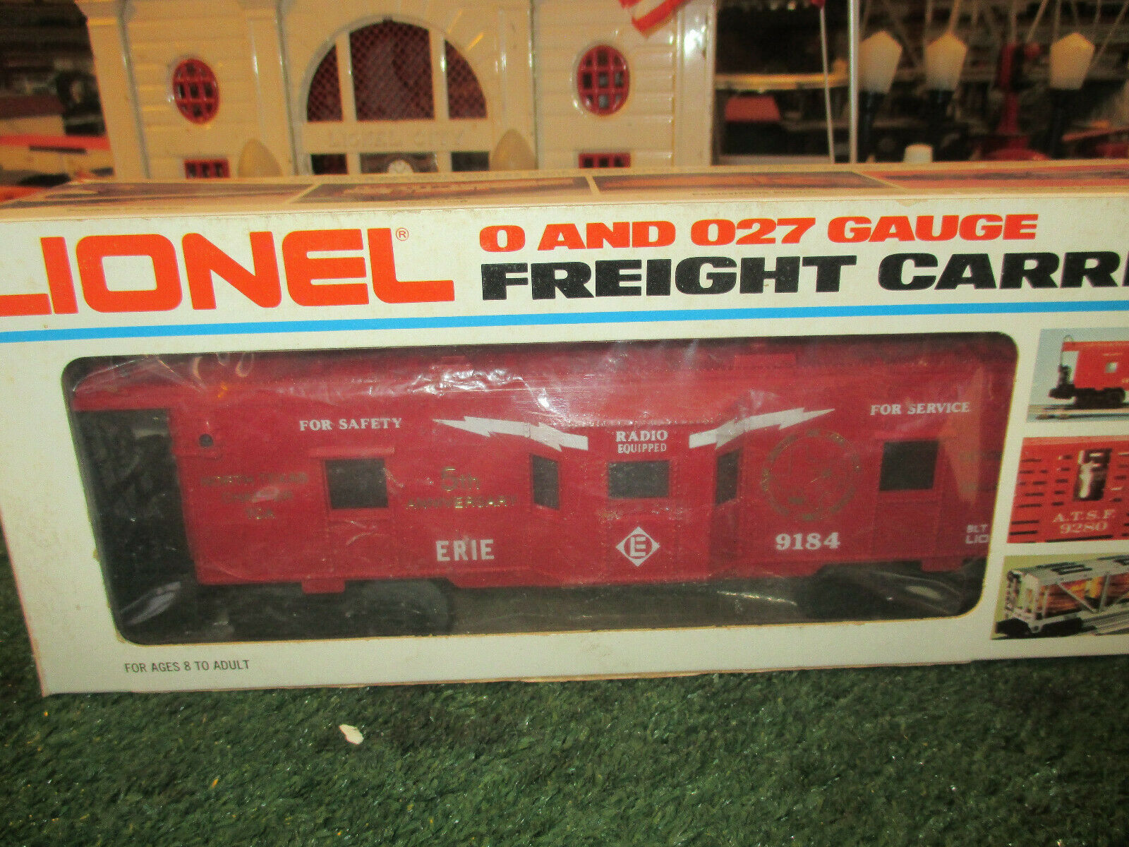 LIONEL MODERN 9184 ERIE BAY WINDOW CABOOSE ILLUM NIOB N TEXAS TCA 5th ANIV.