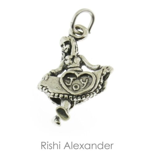 925 Sterling Silver Joy Girl Dancing Charm Made in USA