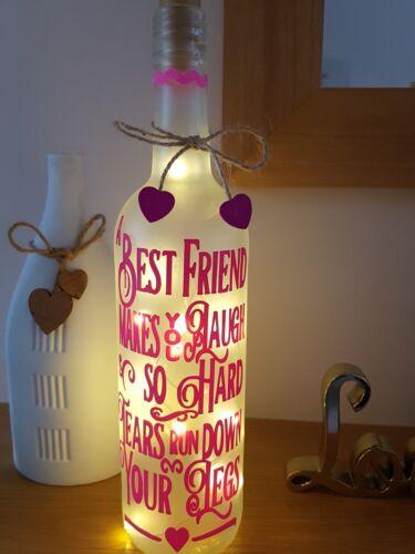 LED Star Light Up Bottles Gift For a Friend