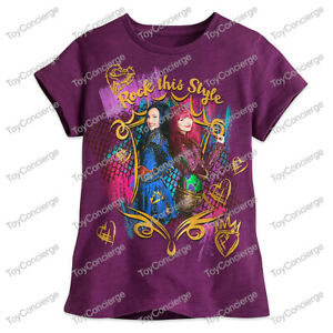 """DISNEY Store TEE for Girls DESCENDANTS 2 /""""Rock This Style/"""" T Shirt PICK Size NWT"""