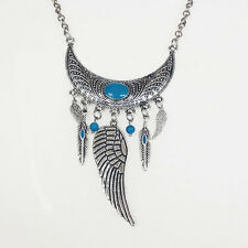 bijou amerindien Collier indiens Navajo croissant de lune et perles turquoise