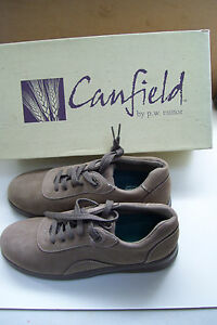CANFIELD-BY-P-W-MINOR-FINESSE-TAUPE-NUBUCK-SHOES-7-N-139-VALUE-NEW-IN-BOX