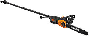 "WORX WG310 8 Amp 8"" 2-In-1 Electric Pole Saw & Chainsaw with Auto-Tension"