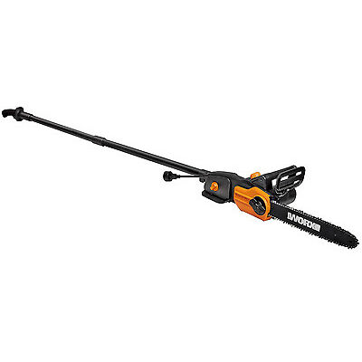 """WORX WG310 8 Amp 8"""" 2-In-1 Electric Pole Saw & Chainsaw with Auto-Tension"""