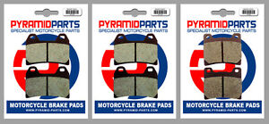 Front & Rear Brake Pads (3 Pairs) for Yamaha TRX 850 (Italy) 1995