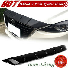 """""""IN STOCK LA Glossy Surface Mazda 3rd 4D 5D Front Hood Fin Spoiler Cover 2016"""