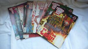 Comic-Collection-Job-Lot-Comics-Judge-Dredd-2000ad-Issues-1268-1277