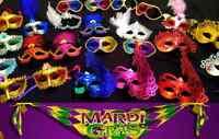 100 NEW MARDI GRAS Masks Masquerade Party Favor Bulk Wholesale Lot :) -Halloween
