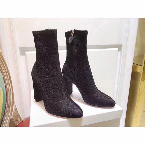 botas stivaletti bassi zapatos caviglia negro 10 cm  pelle sintetica 9637