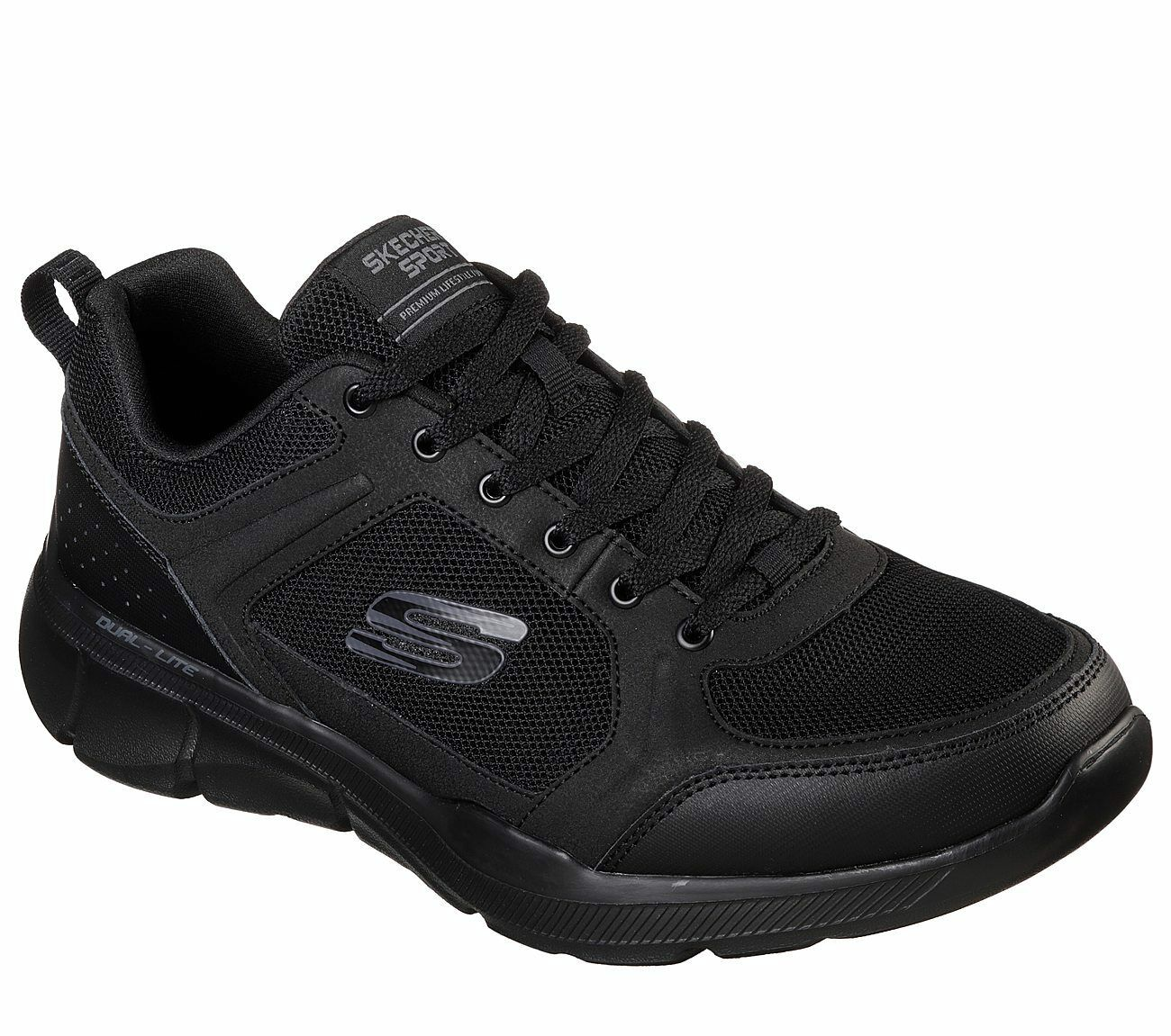 Skechers EWW Extra Wide Black shoes Men's Memory Foam Comfort Casual Sport 52940