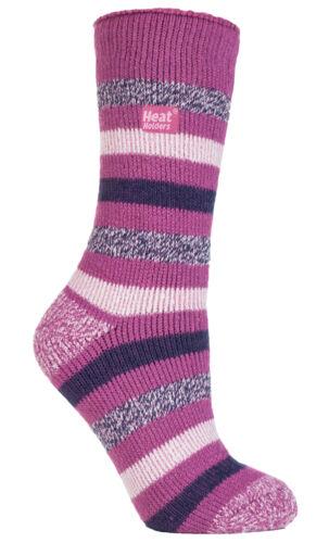 EUR 37-42 Appleby Thermal Twist Marl Fleck Striped Heat Holders Socks UK 4-8