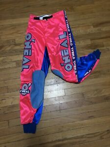 Blue//Yellow, Size 28 ONeal Unisex-Adult Element Race wear Pant