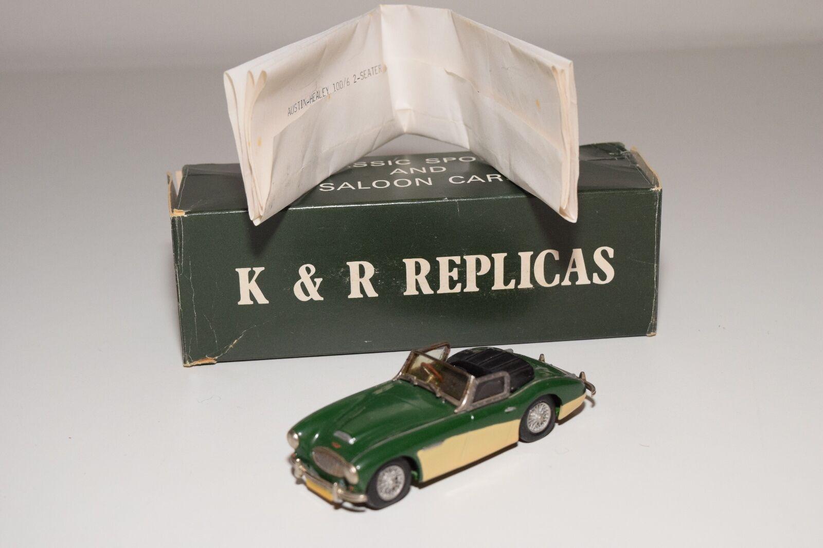K&R REPLICAS HANDBUILD KR32 AUSTIN HEALEY 100 100 100 6 2 SEATER verde CREAM NMINT BOXED 5ff750