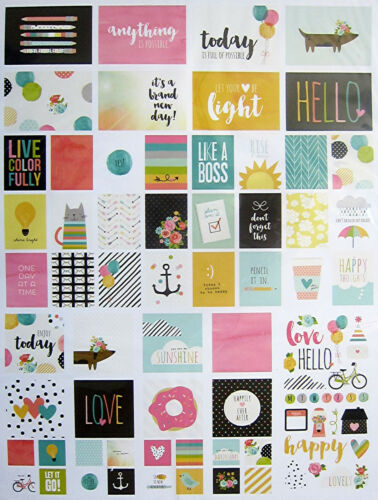 New Save 60/% SIMPLE STORIES CARPE DIEM 12 x 12 Paper /& Embellishments