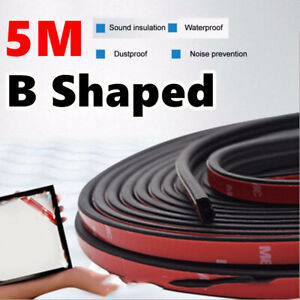 5M-Sloping-B-Shaped-Car-Door-Seal-Strip-Rubber-Trunk-Hood-Edge-Insulation-Trim