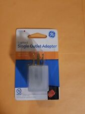 GE Single Grounded Outlet Adapter with Power Indicator Light Clear 50993