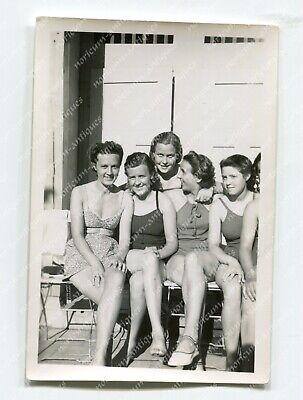 Foto Jugend Mädchen BDM Mädels im Badeanzug Bikini Youth