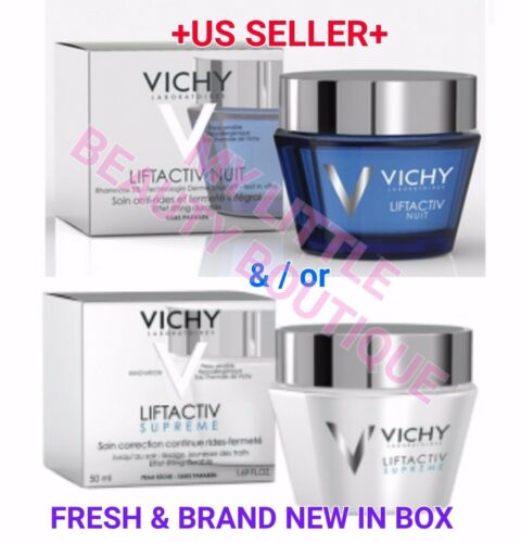 VICHY LIFTACTIV SUPREME &/OR LIFTACTIV NIGHT Anti-Wrinkle/Age Firming Cream BNIB