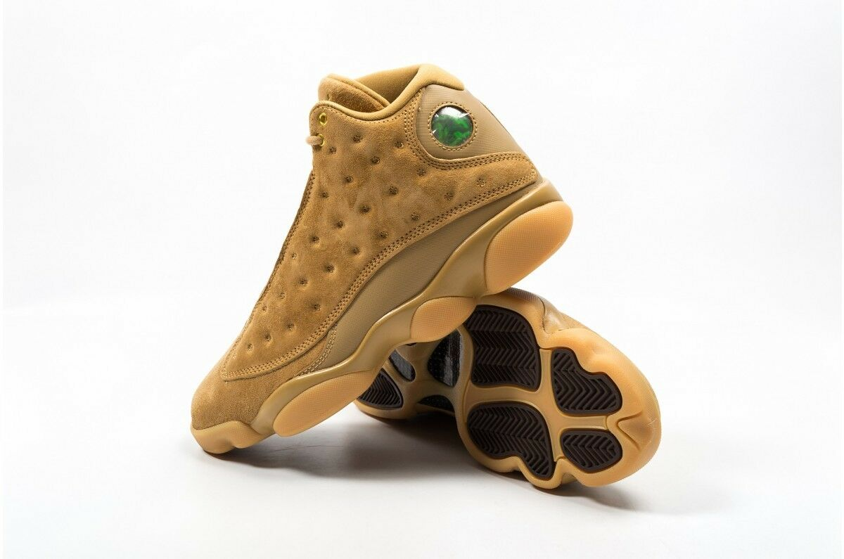 Nike Air Jordan 13 Retro Wheat Elemental Elemental Wheat Gold Brown Gum SZ 11.5  [414571-705] a78801