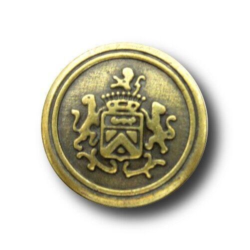 6 große & 8 kleine altmessingfb. Wappen Metall Knöpfe für Blazer (0955am-6+8x)