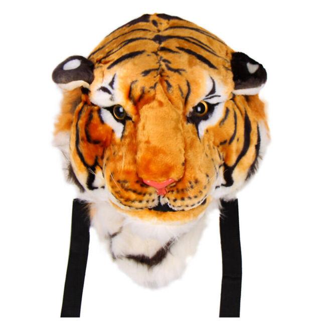 New Unisex Animal Style Lifelike 3D Tiger Head Bag Knapsack Backpack Womens E5A6