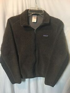 Patagonia Synchilla Women's Brown Fleece Zip Front Jacket Size Sz Small S