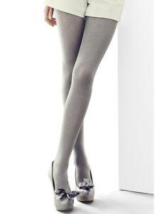 ... Femmes-100-Deniers-Satin-Brillante-Opaque-Argent-Collant- bf75e9ba1ab