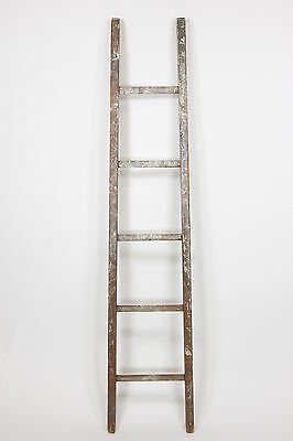 "5-Rung Paint Spattered Primitive Ladder Shabby Chic Decor 68 3/4"" Display Only"