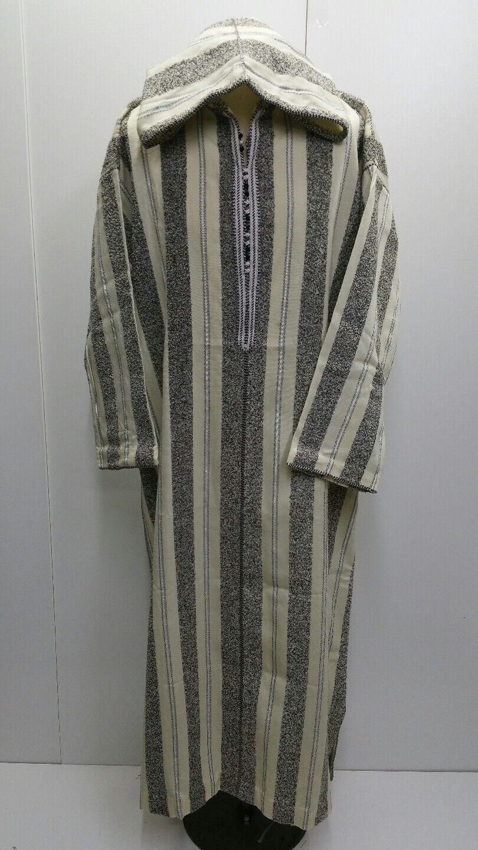 THICK Moroccan winter wool hooded thobe/jalabiya.jubba.thobe.sizes 54 & 58
