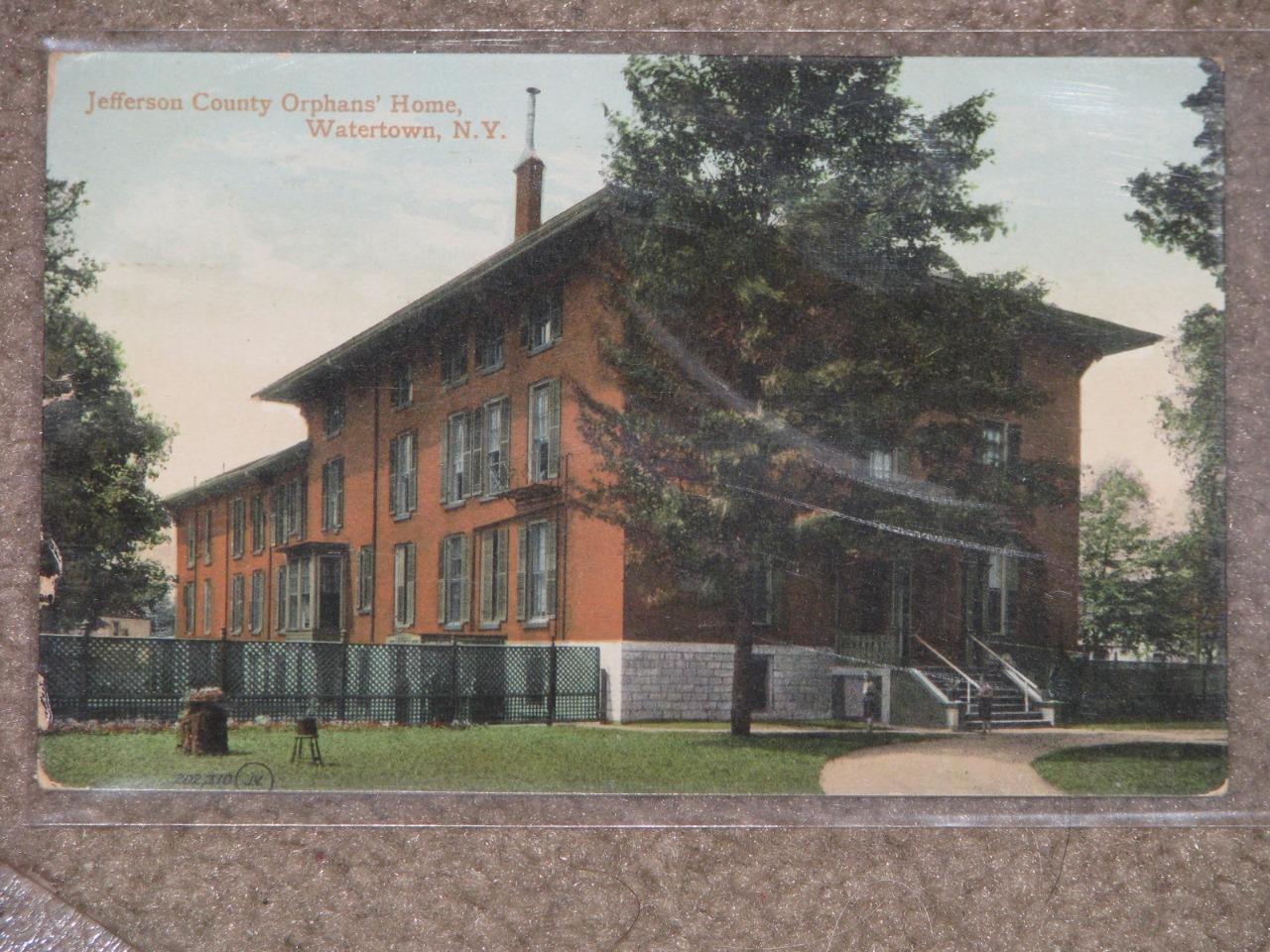 Jefferson County Orphans Home, Watertown, N.Y. 1910, used vintage card
