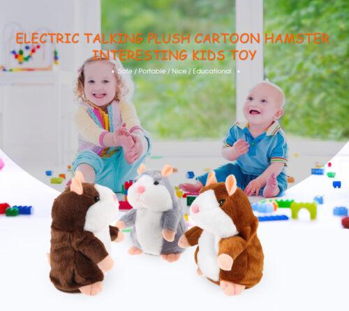 Electric Talking Plush Cartoon Hamster Interesting Kids Interactive Toys Gifts