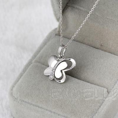 Luxury Crystal Butterfly Pendant Long Necklace Rhinestone Women Sweater Chain