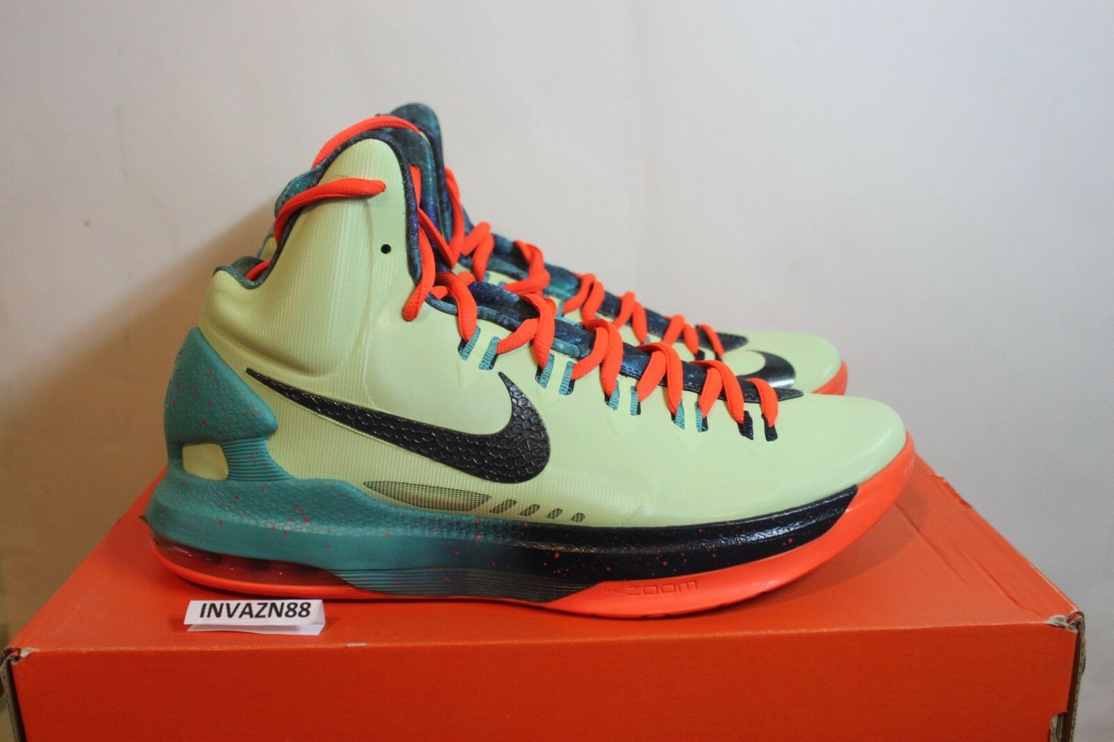 NIKE AIR ZOOM MAX KD V 5 ALL STAR AREA 72 AS GREEN ORANGE SIZE 9