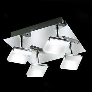 WOFI-LED-Lampara-de-techo-bano-Sonett-4-Lamparas-cromado-ajustable-16-Vatios