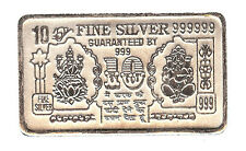 10 Grams Pure 999 Hallmarked Ganesh Lakshmi Ji Silver Note for Investment/Gift