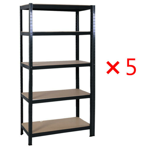 1x 180*90cm Metal Shelving Industrial Boltless Racking Garage Shelves Bay 5 Tier