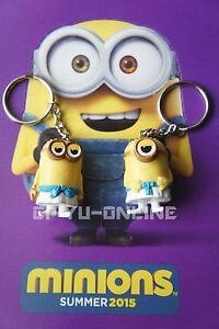 New 2 Pcs Minions Despicable Me Toy Rubber 3D KeyChain - Egipcio  b55806cd772e