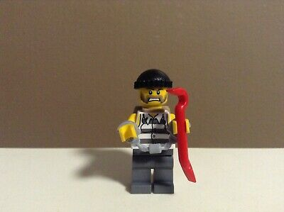 Burglar Thief Bank Robber Biker Bad Guy Man Minifigure Lego City