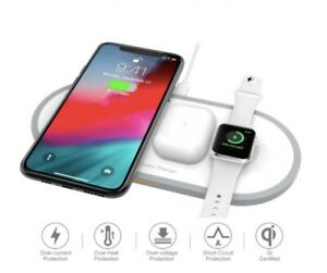 Torteco 3in 1 Wireless Charging Pad Wireless Charging Station Compatible with iPhone Wireless Charger Samsung