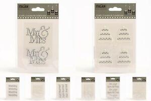 Wedding-Stickers-Diamante-Rhinestone-Pearl-Self-Adhesive-Words-Embellishments