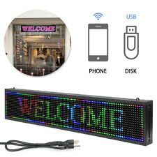 Led Sign Programmable Scrolling Display 40 X 8 Full Color Indoor Message Board