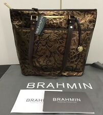 🎁🎄New Brahmin Large Bronze Brown Gatsby Asher Genuine Leather Tote Bag NWT🎄🎁
