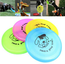 "Large Dog Frisbee Training Puppy Toy Plastic Fetch Flying Disc Frisby 8"" New"