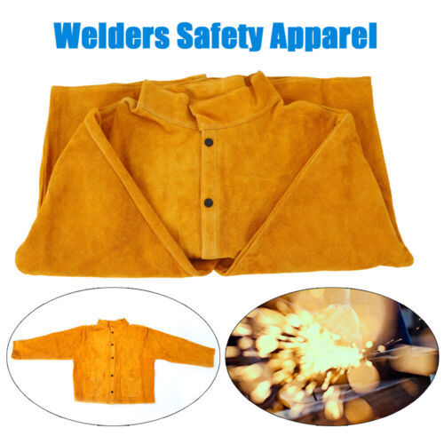 Welder Jacket FlameResistant Heavy Duty Leather Protective Clothing Safety Cloth