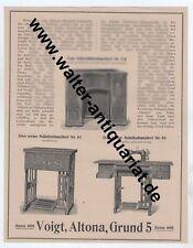 Voigt Altona Hamburg Phoenix Nähmaschine Nähtische Große Reklame anno 1923