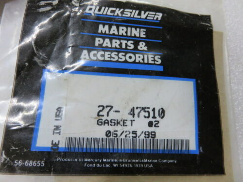 V1 Quicksilver 27-47510 Gasket Mercury Factory OEM Part Lot of 1
