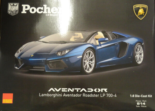 Pocher Lamborghini Aventador LP700-4 Roadster Metallic Blue 1/8  Car Kit HK103