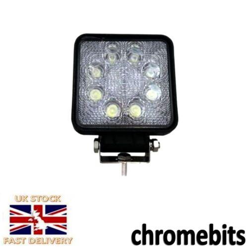 Square Shape 12-24v LED Work Light Flood Lamp Driving Light 4x4 Utv Sand Rail